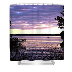 River Sunrise Shower Curtain
