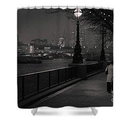 River Thames Embankment, London Shower Curtain