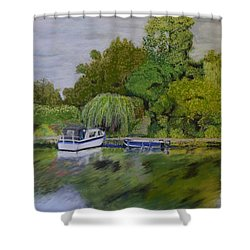 River Thames Hampton Shower Curtain