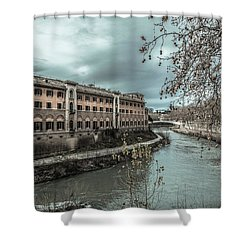 River Tiber Shower Curtain by Sergey Simanovsky