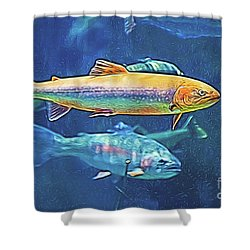 River Trout Shower Curtain