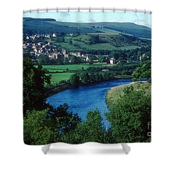 River Tweed And Melrose Shower Curtain
