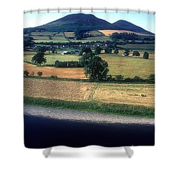 Shower Curtain featuring the photograph River Tweed And The Eildons by Phil Banks