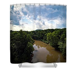 River View From Above Shower Curtain