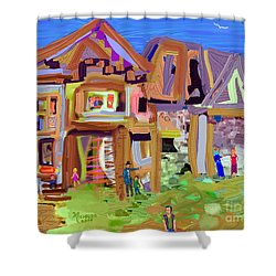 River Village Morning Shower Curtain