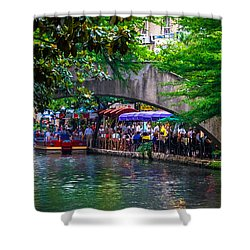 River Walk Dining Shower Curtain