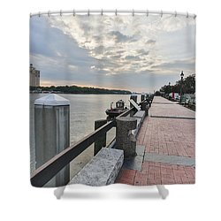 River Walk Path Shower Curtain
