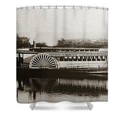 Riverboat  Mayflower Of Plymouth   Susquehanna River Near Wilkes Barre Pennsylvania Late 1800s Shower Curtain
