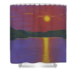 Riverboat Sunset Shower Curtain