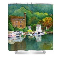 Riverboats Shower Curtain by Karen Fleschler