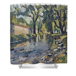 Riverjeker In The Maastricht City Park Shower Curtain