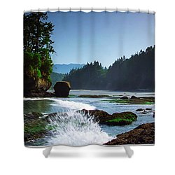 Rivers And Lakes Around Olympic National Park America Shower Curtain