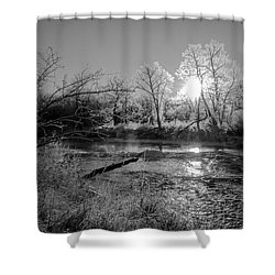 Rivers Edge Shower Curtain by Annette Berglund