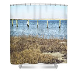 Shower Curtain featuring the photograph River's Edge by Colleen Kammerer