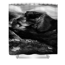 Rivers Edge In Black And White Shower Curtain