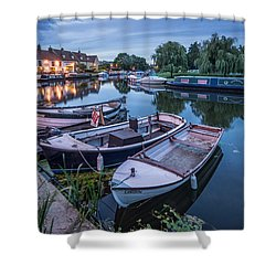Riverside By Night Shower Curtain