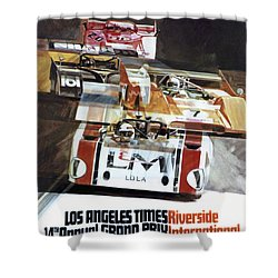 Riverside Can-am Shower Curtain by Peter Chilelli