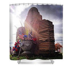Riverside Cemetery War Memorial Shower Curtain