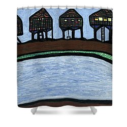 Riverside Shower Curtain by Darrell Black