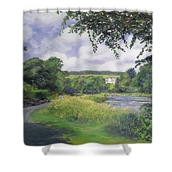 Riverside House And The Cauld Shower Curtain
