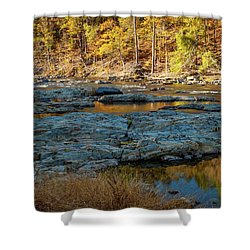 Shower Curtain featuring the photograph Riverside by Iris Greenwell
