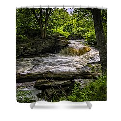 Shower Curtain featuring the photograph Riverside by Mark Myhaver