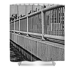 Shower Curtain featuring the photograph Riverside Walkway by Maggy Marsh