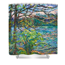 Riverview Spring  Shower Curtain