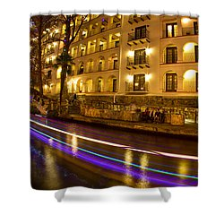 La Mansion Del Rio Riverwalk Christmas Shower Curtain
