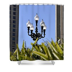 Riverwalk Lamp Shower Curtain