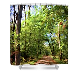 Shower Curtain featuring the photograph Riverway Trail - Bisset Park - Radford Virginia by Kerri Farley