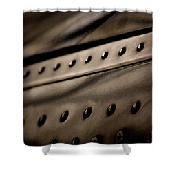 Rivets Shower Curtain by Paul Job