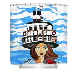 R.m.s. Segwun - Delivering The Mail  Shower Curtain