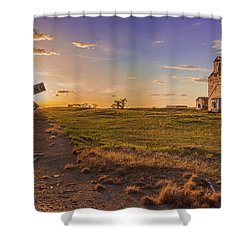End Of The Day On The Montana Hi Line Shower Curtain