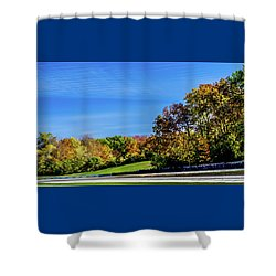 Road America In The Fall Shower Curtain