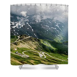 Road Austria Shower Curtain