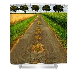Road In Rural France Shower Curtain by Elena Elisseeva