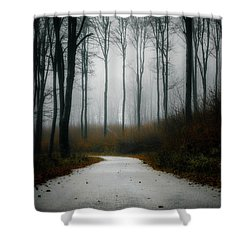 Road In The Fog 07/11/17 Shower Curtain