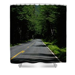 Road Leading To Where? Shower Curtain by John Rossman