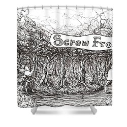 Road More Travelled Shower Curtain