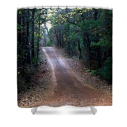 Shower Curtain featuring the photograph Road Not Taken by Betty Northcutt
