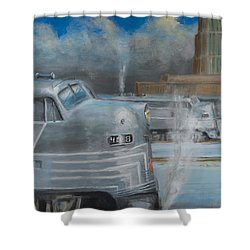 Road Power At Buffalo Shower Curtain by Christopher Jenkins