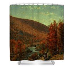Road Through Belvedere Shower Curtain by Thomas Worthington