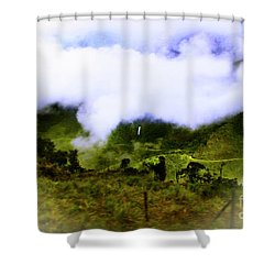 Shower Curtain featuring the photograph Road Through The Andes by Al Bourassa