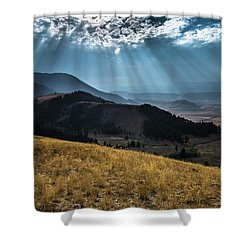 Road To Curtis Canyon Shower Curtain