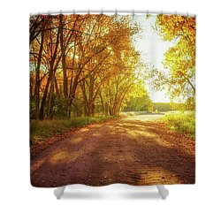 Shower Curtain featuring the photograph Road To Eternity by John De Bord