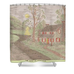 Road To Happiness Shower Curtain