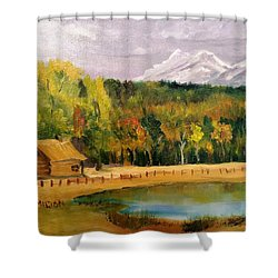 Road To Kintla Lake Shower Curtain