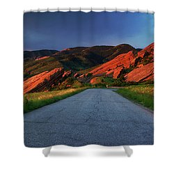 Shower Curtain featuring the photograph Road To Light by John De Bord