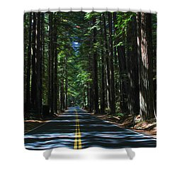 Road To Mendocino Shower Curtain